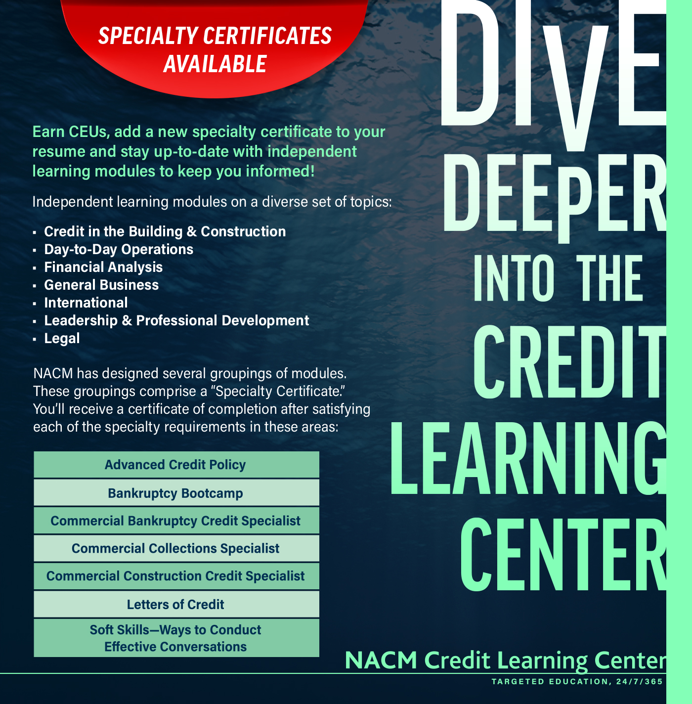 Dive Deeper into the Credit Learning Center