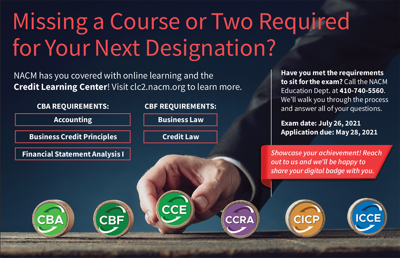 Missing a Course or Two Required for Your Next Designation?