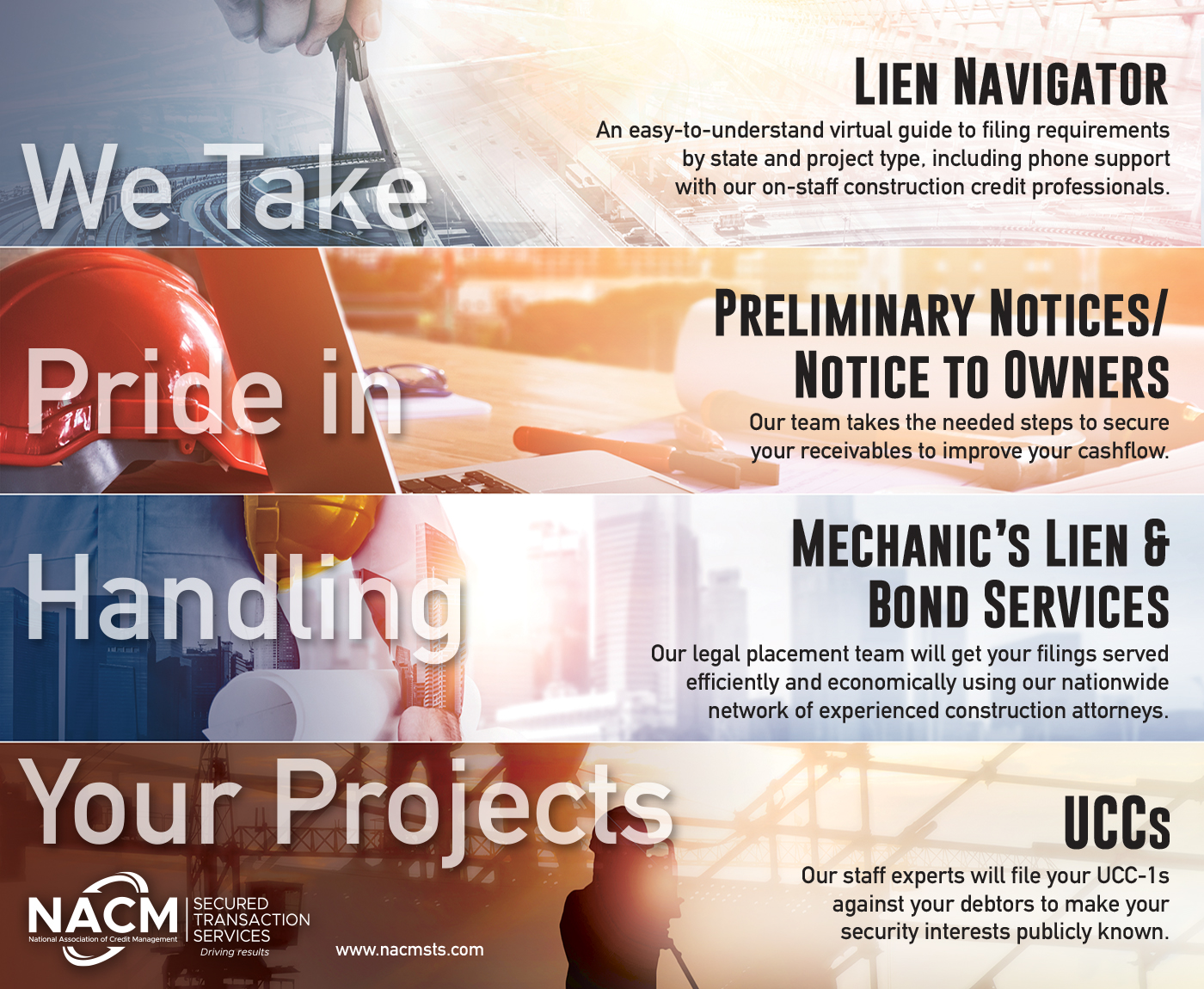 NACM Secured Transaction Services | We take pride in handling your projects.