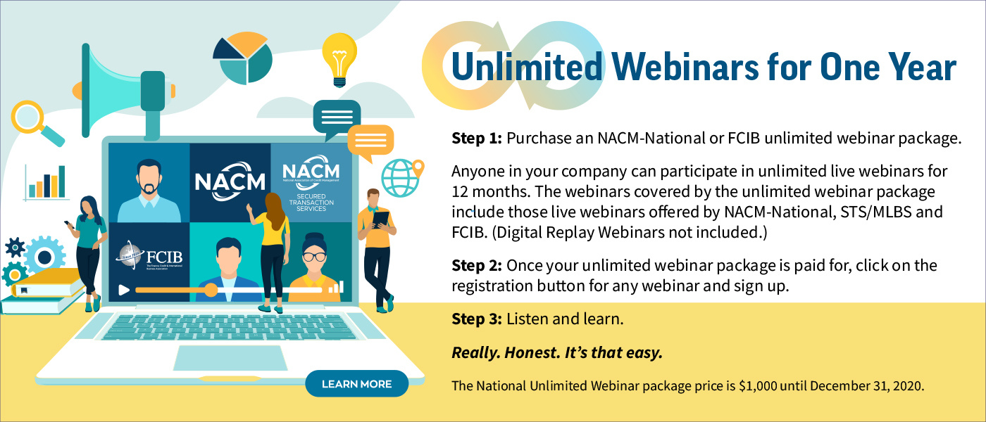 Unlimited Webinars for One Year - Package Price valid through December 31, 2020